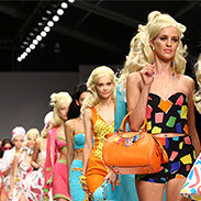 Barbie has learned how to walk in this one of a kind fashion show.