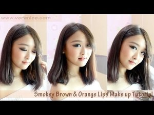 MY CURRENT MAKE UP ROUTINE : Smokey Brown Make Up Look Tutorial