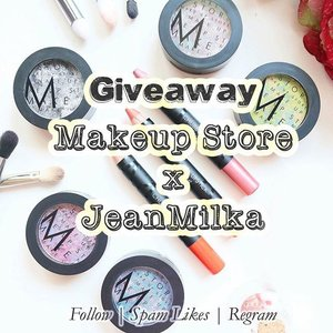 "Hello my lovely followers, to celebrate the launch of my YouTube Channel, Me and @makeupstoreindonesia are collaborating for a giveaway.  You'll have chance to win #MakeupStore product worth 2.600.000 IDR for 5 winners. How would you win them?  1. Follow and spam likes @jeanmilka and @makeupstoreindonesia  2. Regram this picture and tag 5 of your friends who loves makeup with #makeupstorexjean  3. Tell us what is your favorite MAKE UP STORE product? or which one you want to try the most? on the caption. Give us your best answer.  4. Subscribe to my youtube channel ""jeanmilka"" *link is on bio* because I'll have a makeup tutorial using all #makeupstore product.  5. You can post more than one time with different answer on the caption.  6. Giveaway contest will be closed at 28 August 2015  More info about makeup store is at http://www.makeupstore.se/  Don't forget to join and give us your best answers because everyone have a chance to win ^^ #clozetteid #giveaway #giveawayindo #giveawayondonesia #makeup #makeupjunkie #makeuplover"