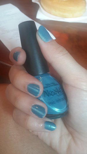 Nail of the day - blue in the house